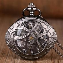 Nowy klasyczny lekarz który motyw kształt oka Hunter kieszonkowy zegarek kwarcowy smocze oczy wilk naszyjnik łańcuszek wisiorek prezenty dla mężczyzn kobiet tanie tanio QUARTZ STAINLESS STEEL ROUND ANALOG Vintage Stacjonarne Z tworzywa sztucznego Unisex Antique XH3045 4 5inch Nowy bez tagów