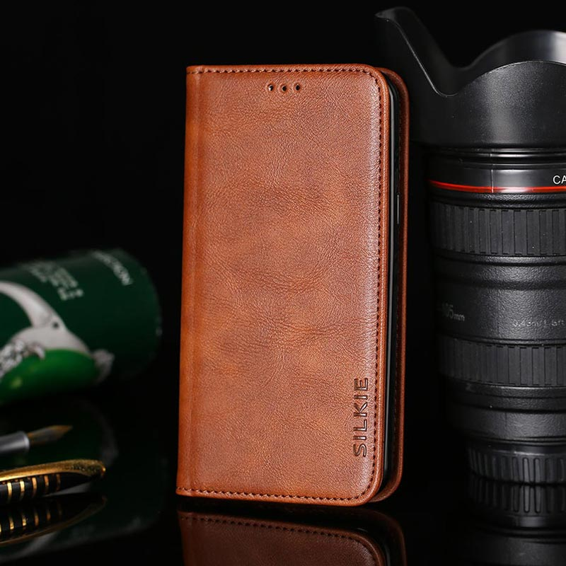Flip Leather Wallet Phone Case Cover for Motorola Moto G5 G5S Plus No Magnet Business Vintage Design Simple