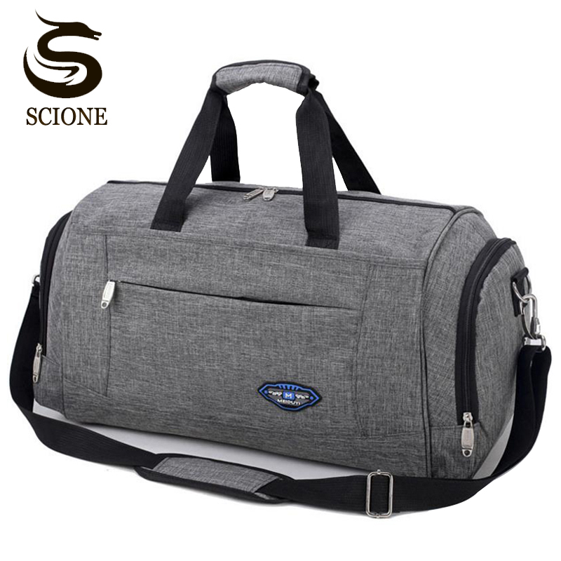 Hot Sports Travel Handbag Men Fashion Carry On Weekend Bags Vintage Casual Duffel Shoulder Bags Large Overnight Bag