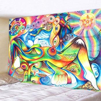 Tenture Murale Psychédélique