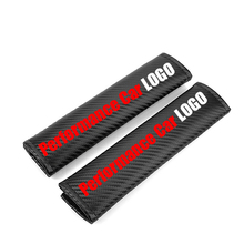 Embroidery Performance Auto logo emblem carbon fiber seat belt cover shoulder pad Automotive interior Car accessories