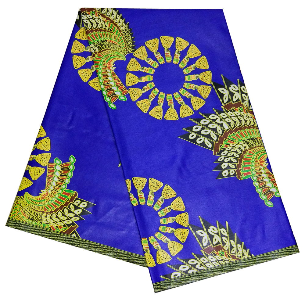 100% Cotton African Wax Prints Sapphire Blue Fabric New Ankara Nigerian Wax High Quality African Fabric For Party Dress