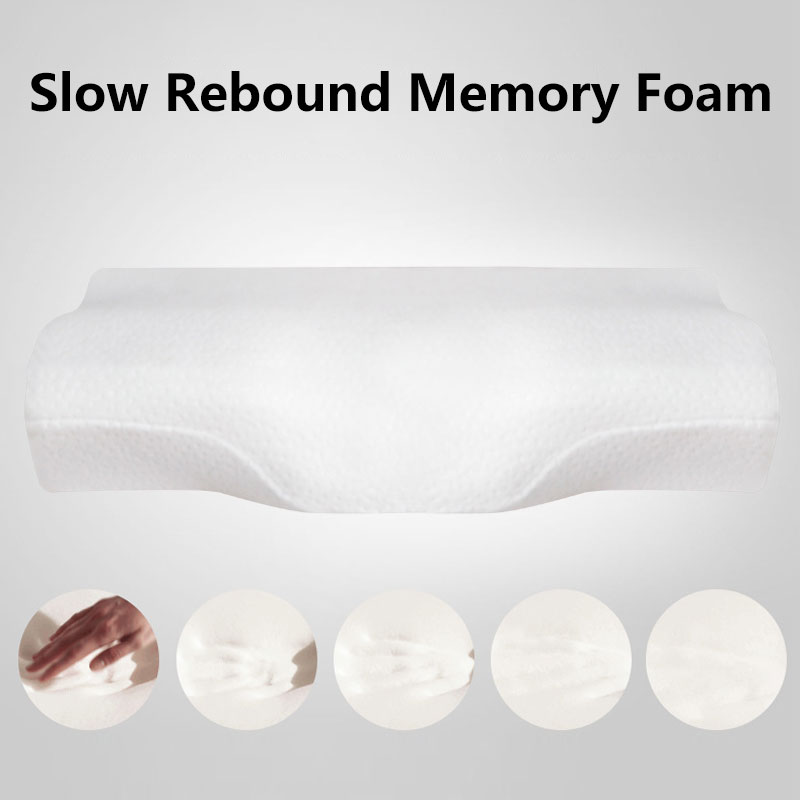 Neck Support Memory Travel Pillow Comfortable Cervical Orthopedic Pillows Neck Care Memory Foam Sleeping Bedroom Head Pillow