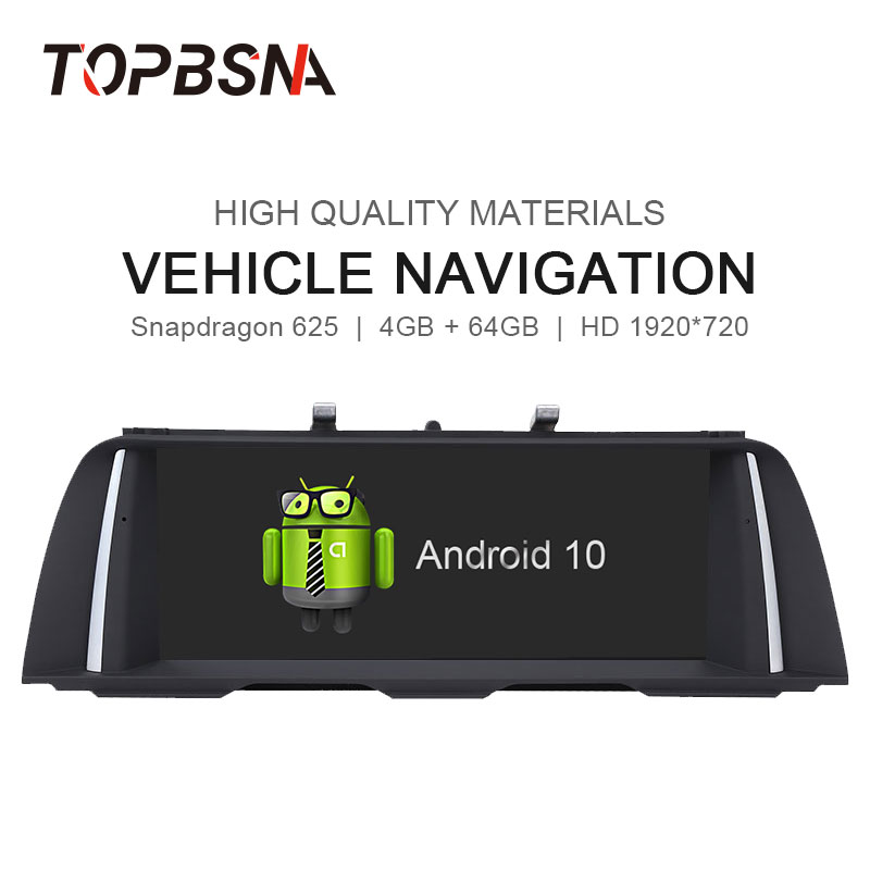 TOPBSNA <font><b>Android</b></font> 10 Car DVD Player For <font><b>BMW</b></font> 5 Series <font><b>F10</b></font>/F11 2013-2016 Original NBT System Audio GPS Stereo Auto WIFI BT Radio RDS image