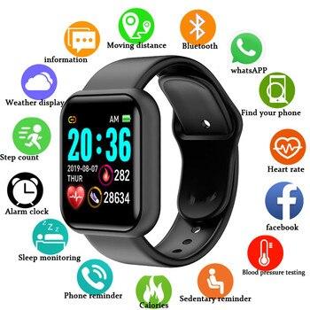 2020 Smart Watch Men women Smartwatch Fitness Tracker IP67 Waterproof Band Heart Rate Monitor Pedometer Wrist