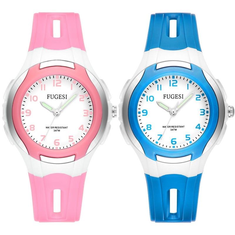 Высококачественные детские часы для девочек и мальчиков, студенческие водонепроницаемые милые детские Мультяшные часы, электронные кварц...