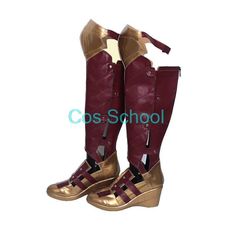 Cosplay, chaussures Cosplay, perruques de Prince Diana et chaussures de princesse Diana de Themyscira, bottes de film Wonder Woman