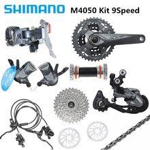 SHIMAN0 ALIVI0 M4050/M4000 kit de cambio de bicicleta de montaña de 9 velocidades de 27 velocidades agrega BR MT200 disco de freno G3 nuevo original