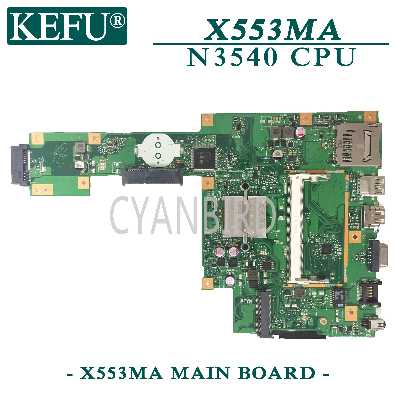 KEFU X553MA Original Mainboard For ASUS X553MA With N3540 CPU Laptop Motherboard