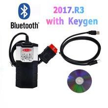 Novo vci para vd tcs cdp pro plus para delphis vd ds150e cdp usb bluetooth obd obd2 scanner 2017 r3 keygen carros ferramenta de diagnóstico