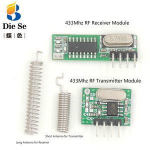 Image 1 - Módulo receptor RF superheterodino de 433 Mhz y módulo transmisor con antena para Arduino DIY Kit 433 Mhz controles remotos
