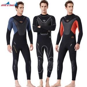 Image 1 - Fullbody Mannen Vrouwen 3Mm Neopreen Wetsuit Surfen Zwemmen Duiken Zeilen Kleding Scuba Snorkelen Koud Water Triathlon Nat Pak