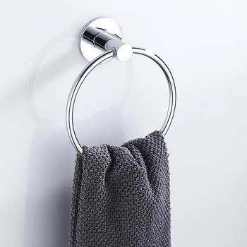 Samoprzylepne pierścienie ręcznikowe ze stali nierdzewnej okrągłe ręczniki łazienkowe uchwyt ścienny wieszaki na ręczniki do kuchni pokój kąpielowy tanie i dobre opinie HOTBEST STAINLESS STEEL S28790310 Polerowane Zinc Alloy + Stainlee Steel