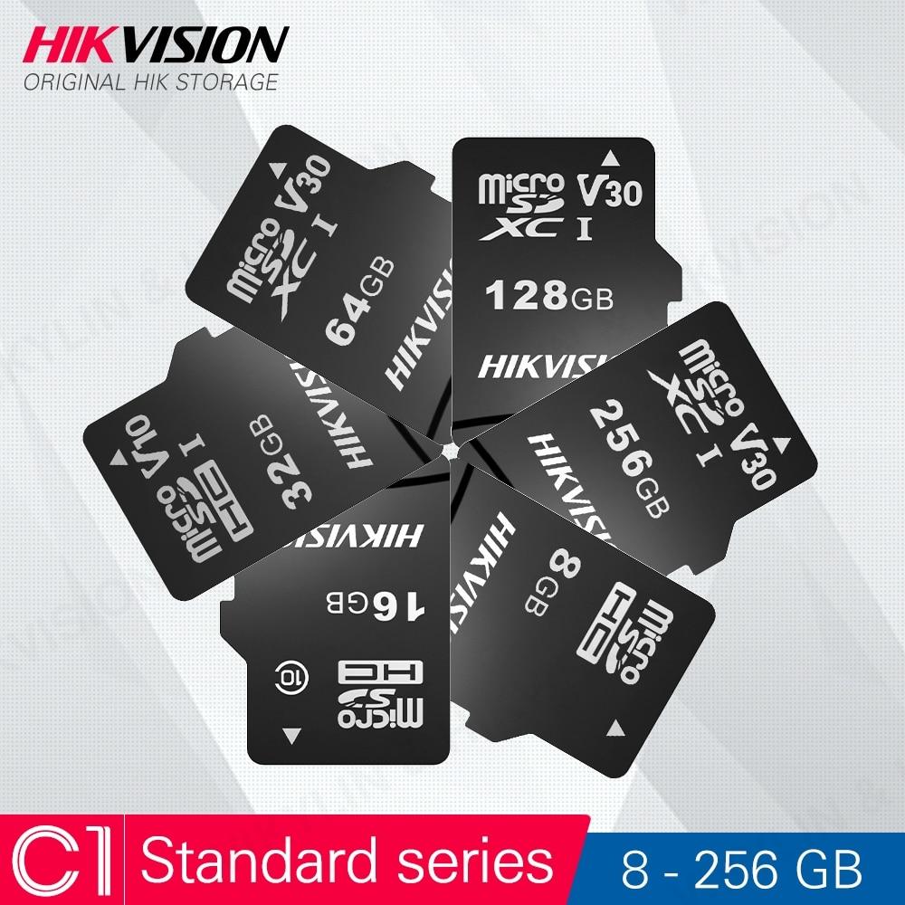 HIKVISION 100% Оригинальный Micro SD карты Class10 8/16/32/64/128/256 ГБ макс 92 м/с MicroSDHC/XC UHS-I TF карты C10 слот для карт памяти # C1