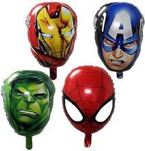 Homem de ferro homem capitão américa hulk folha balões super herói festa de aniversário decoração suprimentos presentes das crianças ar brinquedos