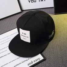Men Womens BROOKLYN Letters Solid Color Patch Baseball Cap Hip Hop Caps Leather Sun Hat Snapback Hats