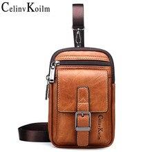 Celinv Koilm Brand Small Multi-function Sling Crossbody Bag Men Shoulder Bag Legs Waist Bag For Man New Fashion Casual Cool Mini
