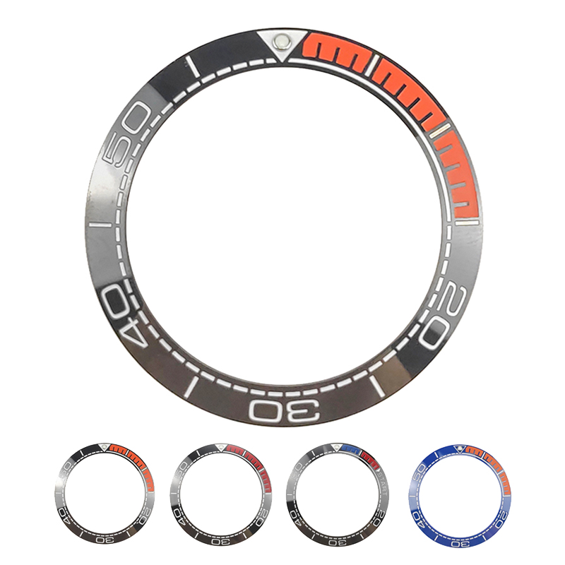New 41.5mm High Quality Ceramic Bezel Insert For Sea Master Diver Men's Watch Watches Replace Accessories Blue/Black/Orange