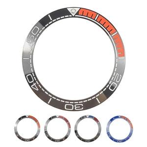 Image 1 - Yeni 41.5mm yüksek kaliteli seramik çerçeve takımı için deniz ana dalgıç erkek saati saatler aksesuarları değiştirin mavi/siyah/ turuncu