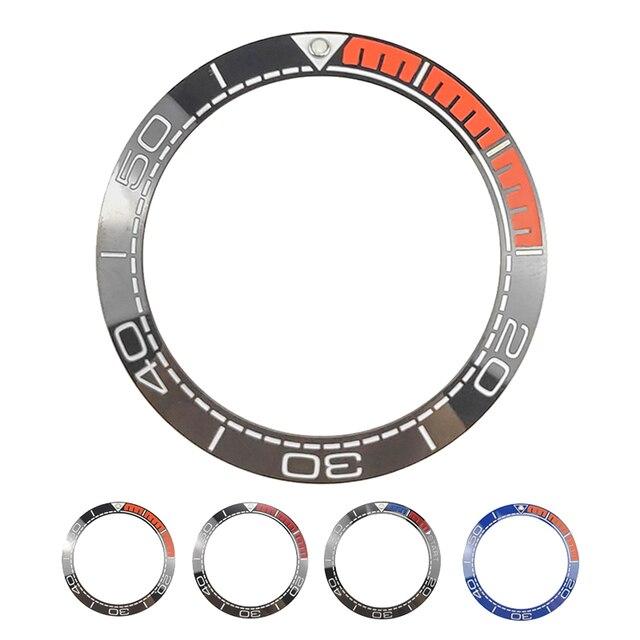 Yeni 41.5mm yüksek kaliteli seramik çerçeve takımı için deniz ana dalgıç erkek saati saatler aksesuarları değiştirin mavi/siyah/ turuncu