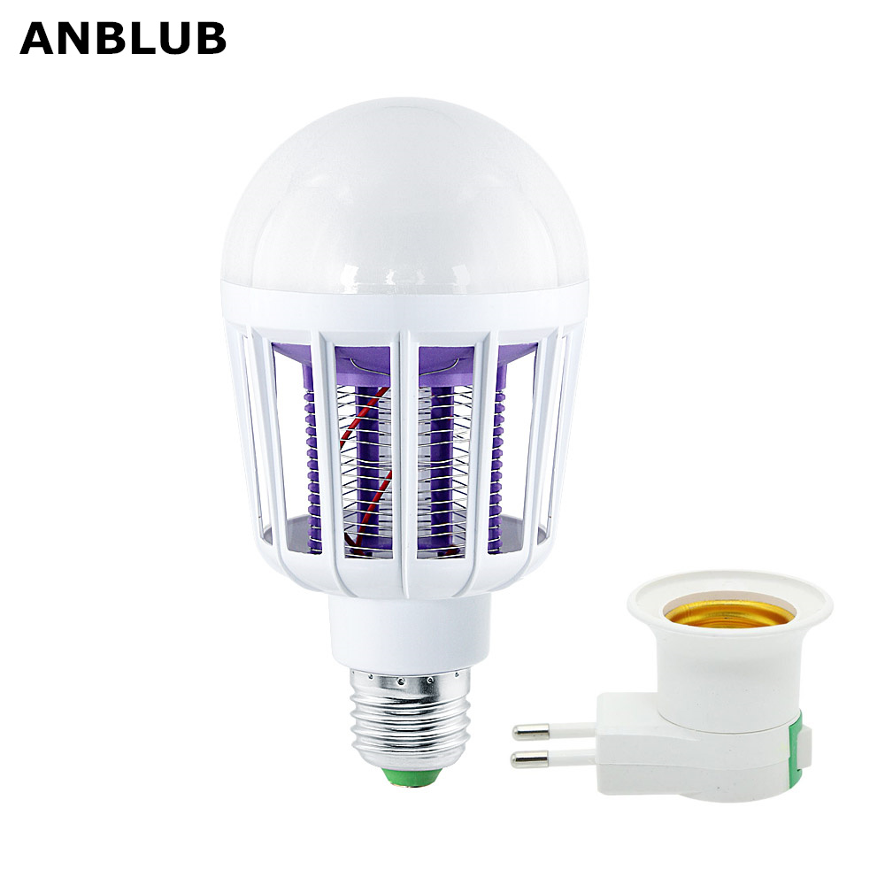 E27 E26 LED Mosquito Killer Lamp 220V 110V UV Electronic Insect Trap Repeller Zapper Killing Fly Bug For Indoor Home AC 85-265V