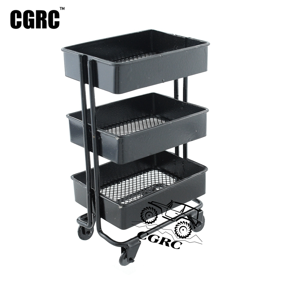 Metal Activity Shelf Trolley Simulation Decoration For 1/10 RC Crawler Car Traxxas TRX4 TRX6 G63 D90 D110 Axial Scx10 90046
