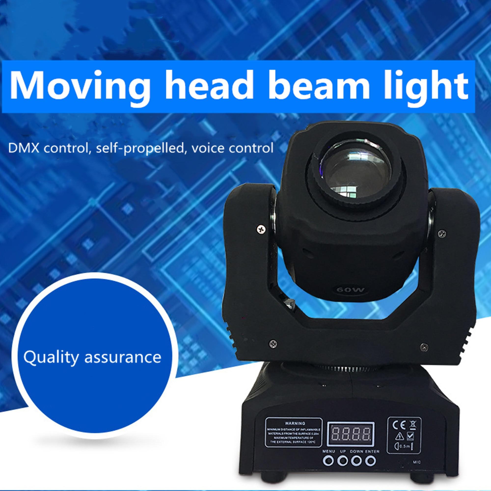 Mini Spot 60W, iluminación con cabeza giratoria con placa Gobos y placa de Color, gran brillo 60W, Mini iluminación con cabeza giratoria DMX512