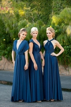 Navy Blue A-Line Formal Party Bridesmaid Dresses 2019 Elegant A variety of styles Chiffon Long Dress vestido de festa