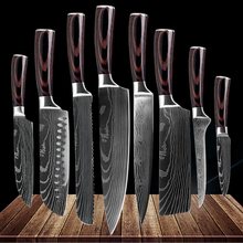 Kitchen Utility Chef Knives laser Damascus steel Santoku knife Knives Sharp Cleaver Slicing Gift Knife Boning knife Paring knife sowoll japanese 3cr13mov stainless steel kitchen knives chef bread slicing santoku utility paring knife utral sharp meat cleaver