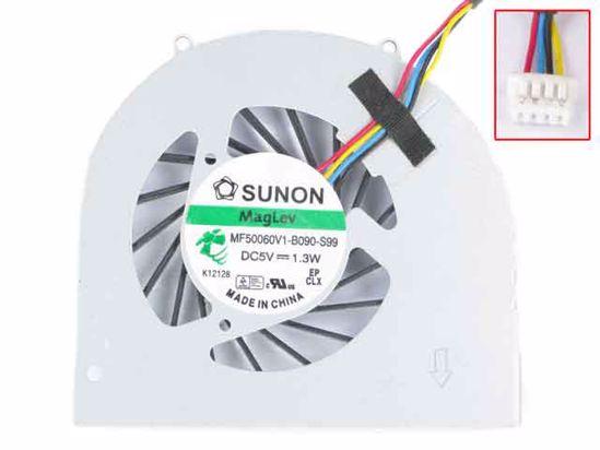 SUNON Q120 Q150 series MF50060V1-B090-S99 DC5V 1.3W CPU COOLING FAN 4Wire
