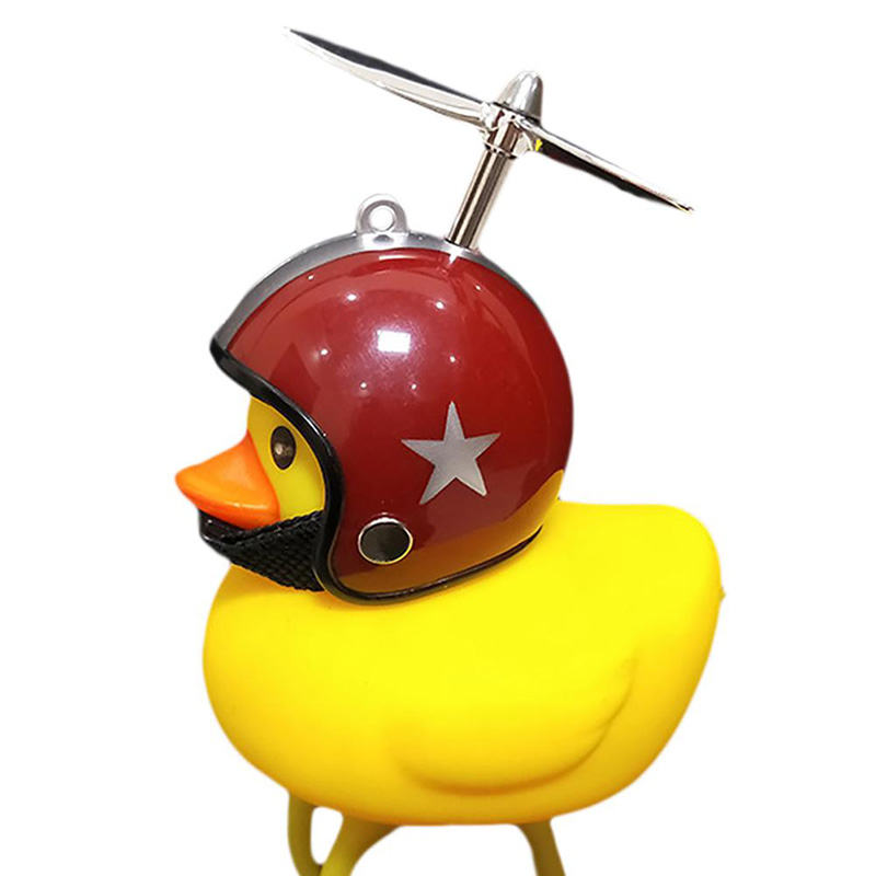 NEW Duck Bell with Three-leaf Propeller Horn Warning Bicycle Motorcycle Accessories