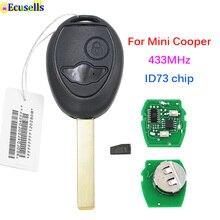Mando a distancia de 2 botones, 433MHZ, 434MHZ, con Chip ID73, para BMW Mini Cooper Rover 75 HU92 Blade