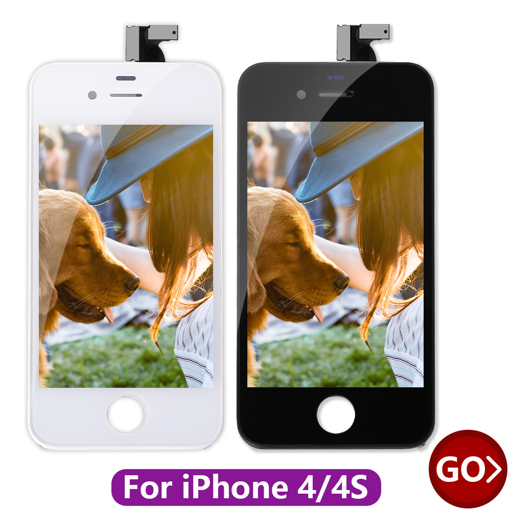 Leoleo AAAAA Quality LCD Display For iPhone 4 4g Mobile Phone LCDs Screen 4S 4GS 3.5 Digitizer Assembly