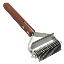 Pet Dog Grooming Brush Double Sided Shedding Dematting Rake Comb efficientHair Removal