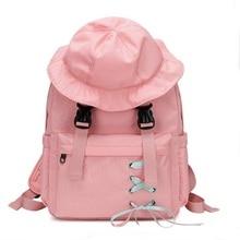Cute Cartoon Nylon Hat Backpack Women Large Capacity Waterproof Backpacks For Students Fashion Vintage Mochilas