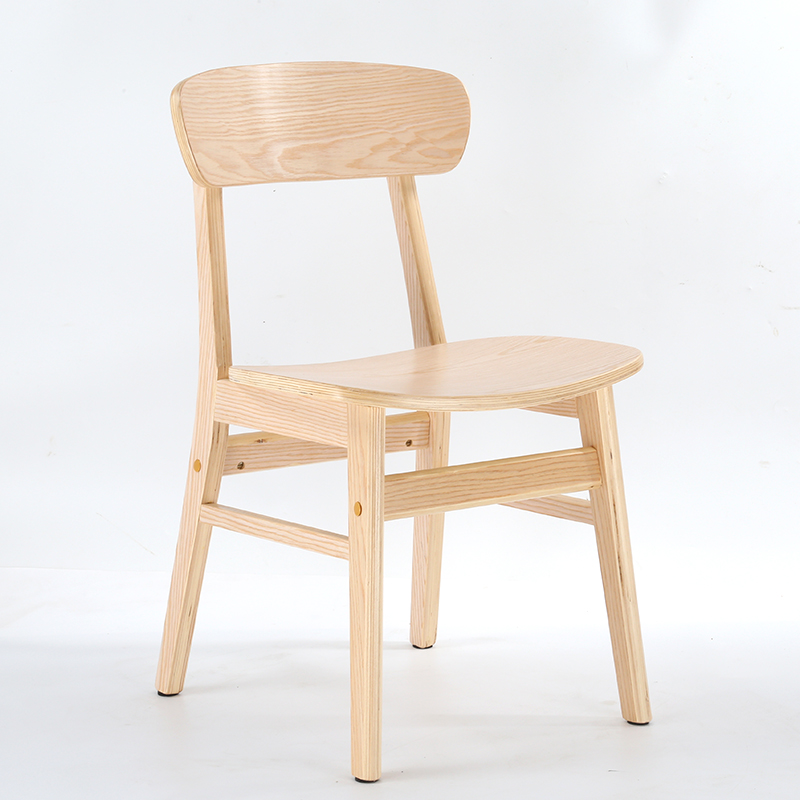 Nordic Solid Wood Dining Chair Adult Home Tea Shop Dining Table Chair Backrest Desk Chair Modern Minimalist Butterfly Chair