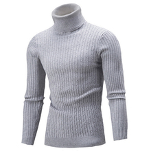 Mens Turtleneck Sweaters Warm High Collor Quality Knit Sweater Tops Casual Long Sleeve Homme Male Pullover