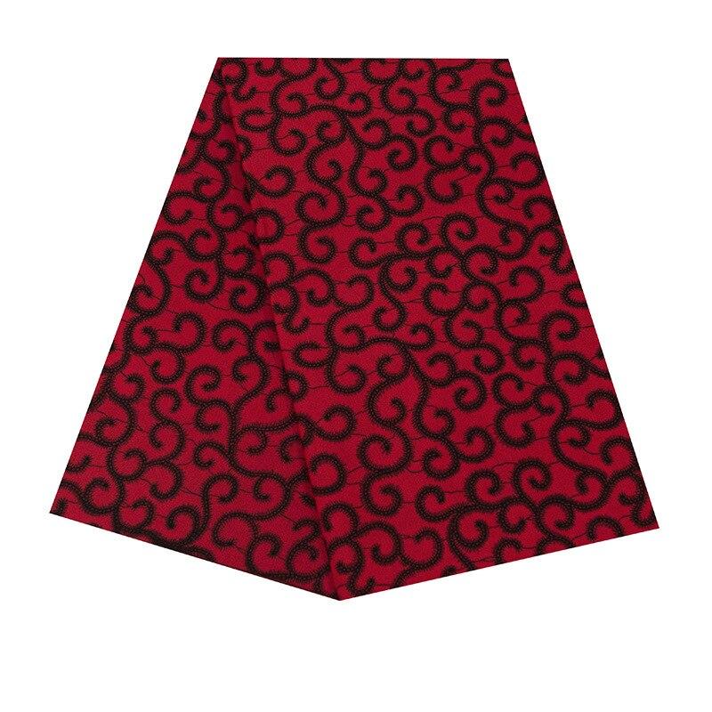 Red Series High Quality Ankara African Wax Print Fabric Pure Polyester Soft African Ankara Wax Fabric Wholesale 6 Yards