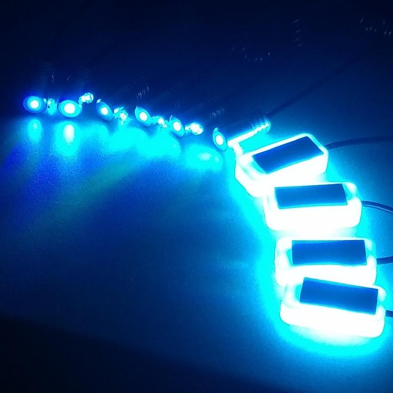 10 In 1 RGB LED With 6/8/10M Interior Decoration Car Fiber Optic Strip Light 12V Decorative Atmosphere Lamps Universal