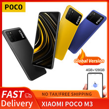 Poco m3 versão global 4gb + 128gb xiaomi smartphone snapdragon 662 octa núcleo 6.53