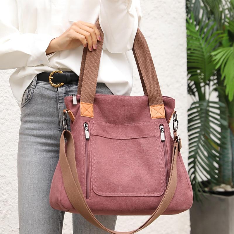 New Women's Shoulder bags Youth Female Crossbody Bag Top-Handle Bags Handbags High Quality canvas Ladies Leisure Totes Bolsa