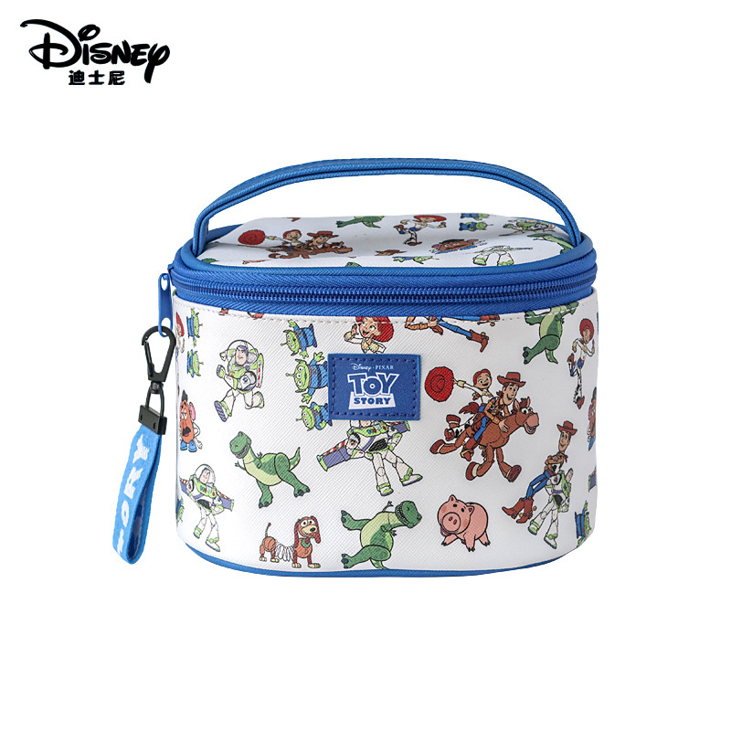 Disney Authentic Toy Mobilization Cartoon Buzz Lightyear Fashion Multi-function Storage Bag Cosmetic Bag Purse  Make Up Box