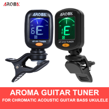 Арома AT-01A/101 гитарный тюнер Вращающийся клип-на тюнер ЖК-дисплей для хроматической акустической гитары бас-укулеле аксессуары для гитары