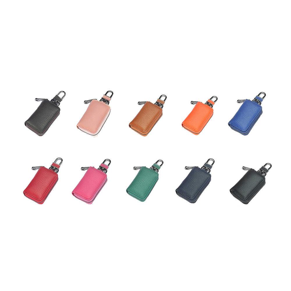 2019 nowych moda brelok z prawdziwej skóry uchwyt etui klucz do torebki pokrywa torba mężczyźni woreczek na klucze klucz do torebki uchwyt organizator obudowa kluczyka do samochodu