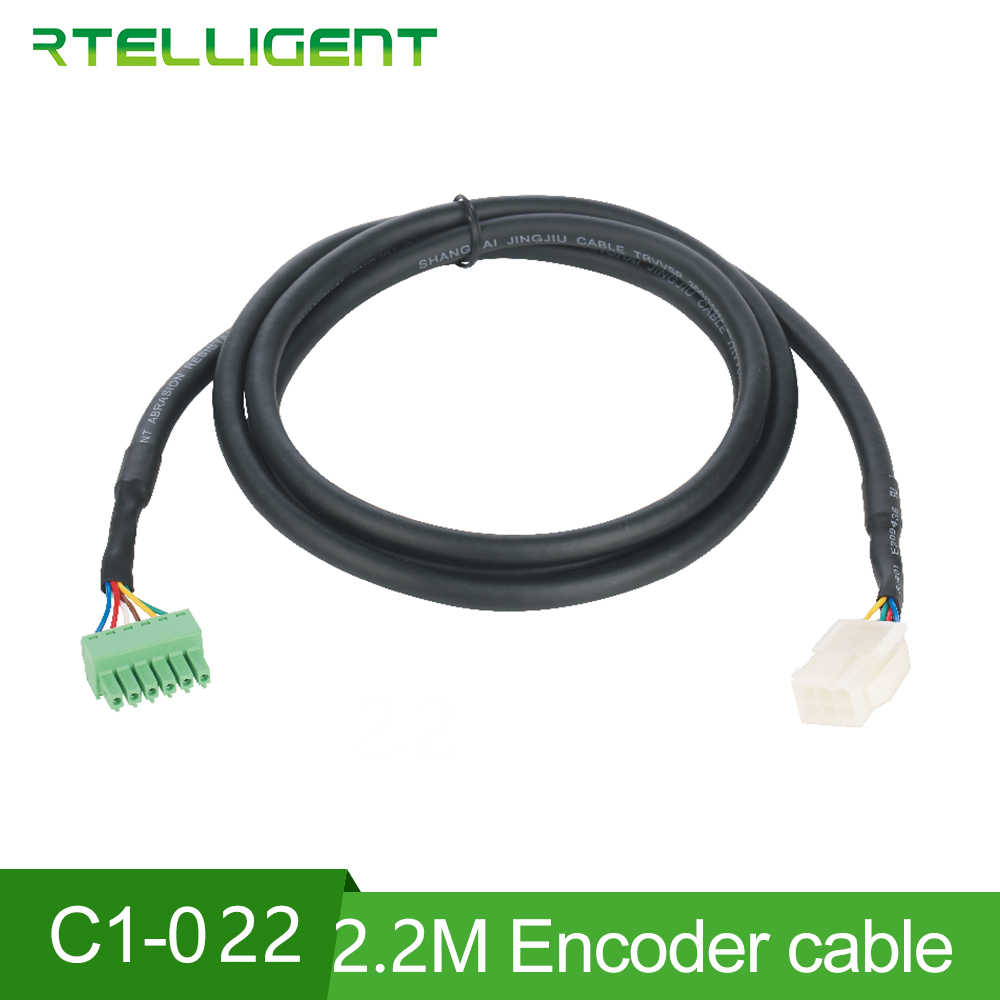 Motor paso a paso Nema 23 Rtelligent con codificador Nema 23 24, controlador de Motor paso a paso de circuito cerrado, servocontrolador fácil con cable libre de 2,2 m