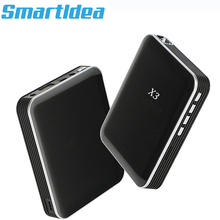 Smartldea DLP Mini X3 Proyector construir batería 200 lúmenes HDMI Pocket USB Smart Proyector teléfono móvil beamer con cable compartición de pantalla