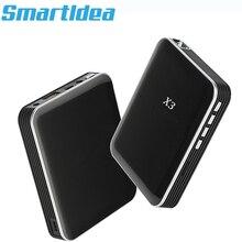 Smartldea DLP Mini X3 projektor budowa baterii 200 lumenów HDMI USB kieszonkowy inteligentny Proyector mobilny telefon beamer przewodowy wyświetlacz lustrzany