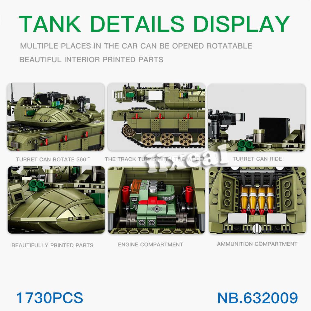 フィットレゴタンクおもちゃビルディングブロックテクニックため憲兵ビッグレンガクール映画 WW2 タンク車 1730 個