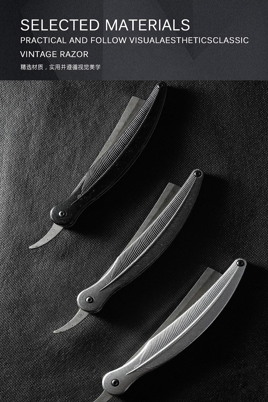 Pena manual do vintage navalha de barbear