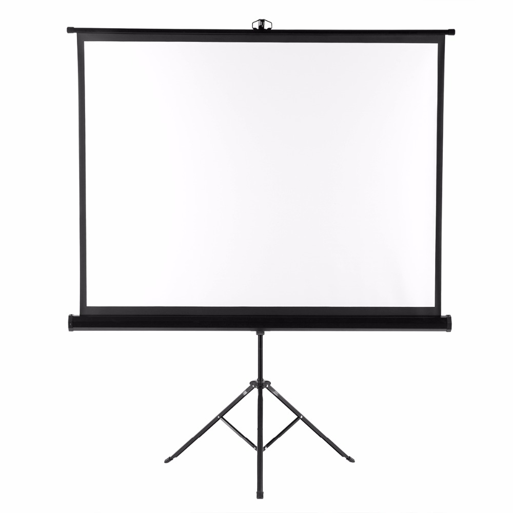 "100/"" 16:9 3D 4K Pull Up Projector Projection Screen HD Movies with Stand Tripod"